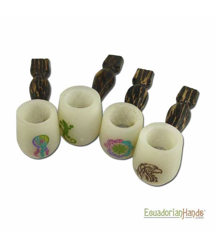 25 Handmade Smoking Pipes, Eco Ivory Tagua, Standard-ivory