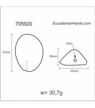Big Nut Ornaments Tagua Bead (720 units) PREMIUM