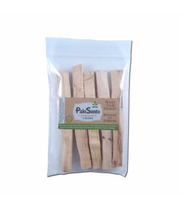 5 incense sticks palosanto, ziploc 9x13cm, w/label