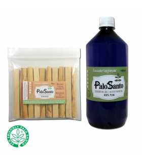 1100ziplocs (10 sticks palosanto ea.) w/LABEL + 1000ml. Palosanto EO 100% pure