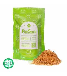 EcuadorianHands Sustainable Harvested Palo Santo Incense Powder for Spiritual Cleansing and Air Freshener, Bag 125g
