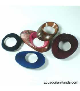 Button Hole top hole Tagua Bead (1 unit)