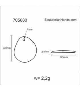 Flat Slice 37mm Tagua Bead (30 units) YELLOW
