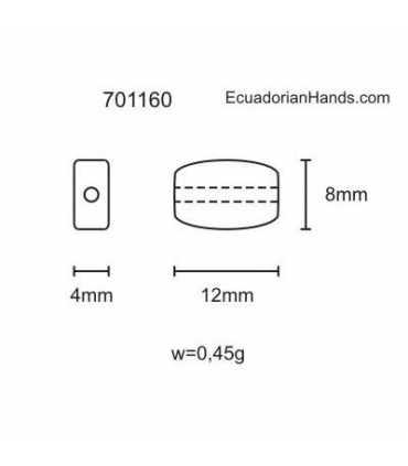 Necklace Bracelet 8x12mm Tagua Bead (50 units) PREMIUM