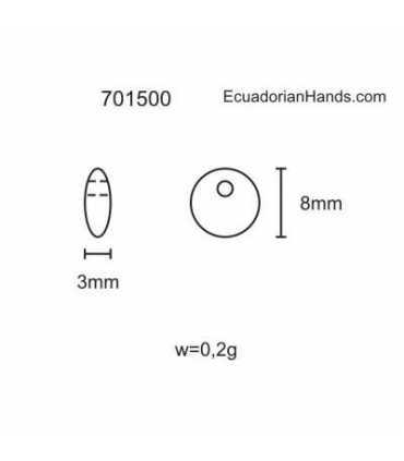 Lentil E 8mm Tagua Bead (200 units) PREMIUM