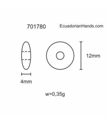 Lentejas 12mm Hg Abalorios Tagua (200 unidades)