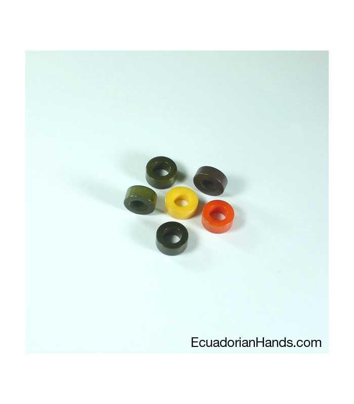 Simple Terminal 12mm Tagua Seed Beads (1440 units) PREMIUM