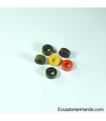Simple Terminal 12mm Tagua Seed Beads (60 units)