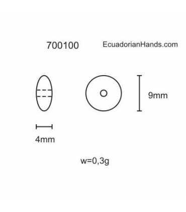 Lentil 9mm Tagua Bead (200 units) PREMIUM