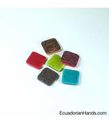Rustic Belt Square Tab Tagua Bead (1 unit)