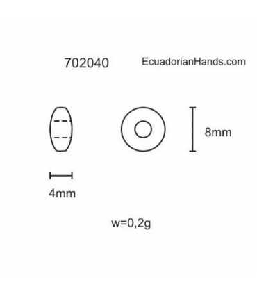 Lentejas 8mm Hg Abalorios Tagua (200 unidades)