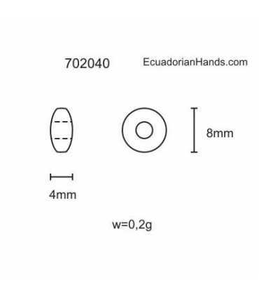Lentil 8mm Hg Tagua Seed Beads (200 units) PREMIUM