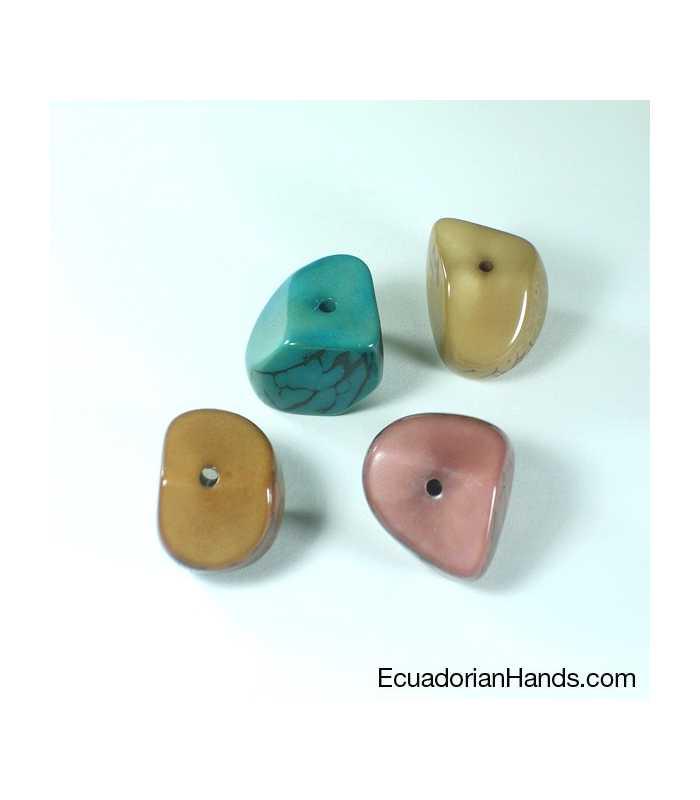 Four Cuts Seed Tagua Bead (10 units) PREMIUM