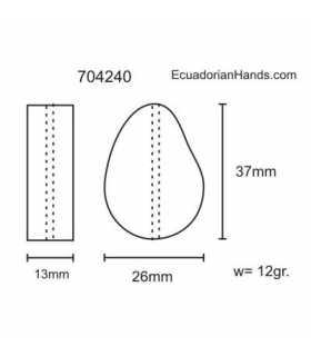 Polished Stone Tagua Bead (8 unit) YELLOW