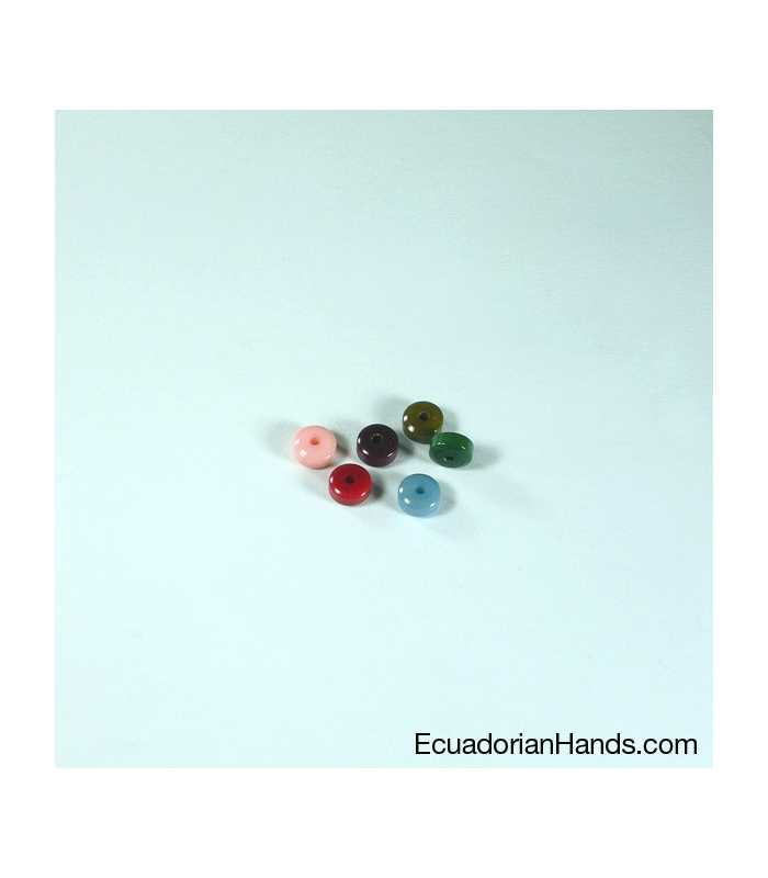 Cylinder A 7mm Tagua Seed Beads (200 units) YELLOW