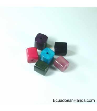 Pieza Cuadrado 3D Abalorios Tagua (10 unidad)