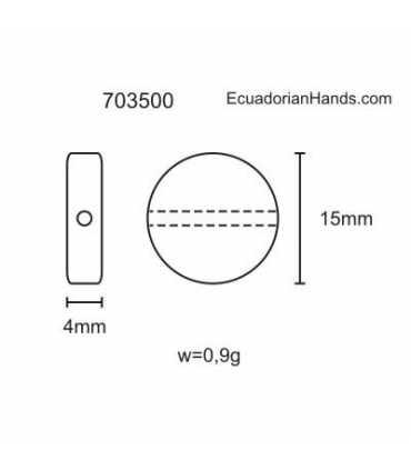 Blank Lin 24 Tagua Bead (50 units) YELLOW