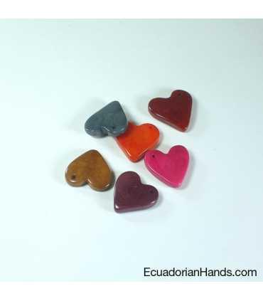 Heart 20mm Tagua Bead (10 units)