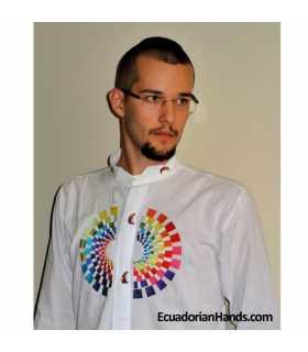Ecuador President Rafael Correa Shirt Hand Embroidered - c006
