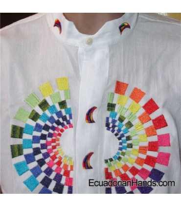 Ecuador President Rafael Correa Shirt Hand Embroidered