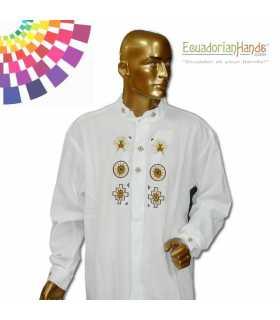 Ecuador President Shirt Rafael Correa 2 Hand Embroidered