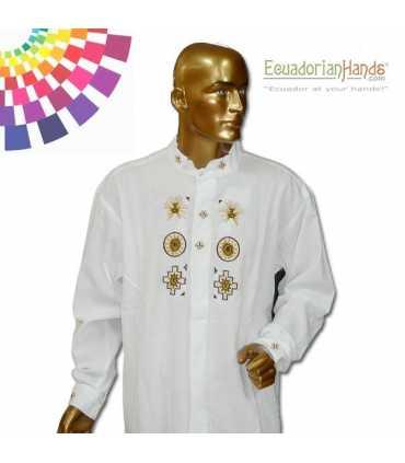 Camisa Presidente Ecuador Rafael Correa 2 Bordada mano
