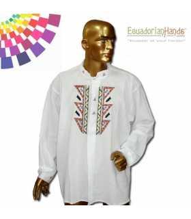Camisa Presidente Ecuador Rafael Correa 3 Bordada mano