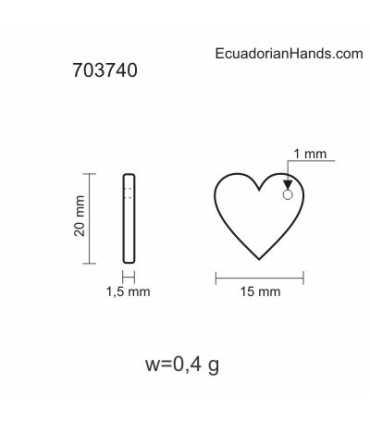 Heart 20mm Tagua Bead (10 units) YELLOW