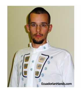 Camisa Presidente Ecuador Rafael Correa 4 Bordada mano
