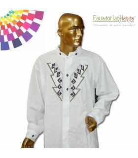Camisa Presidente Ecuador Rafael Correa 5 Bordada mano