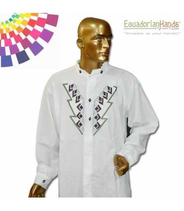 Camisa Presidente Ecuador Rafael Correa Bordada mano