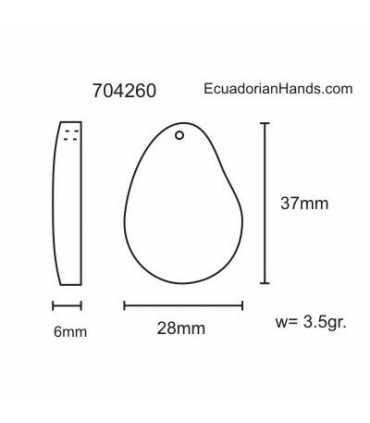 Thin Slice Tagua Bead (35 units) YELLOW