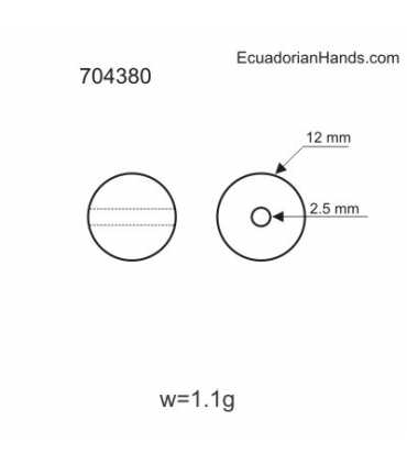 Perlas 12mm Abalorios Tagua (14 unidad)