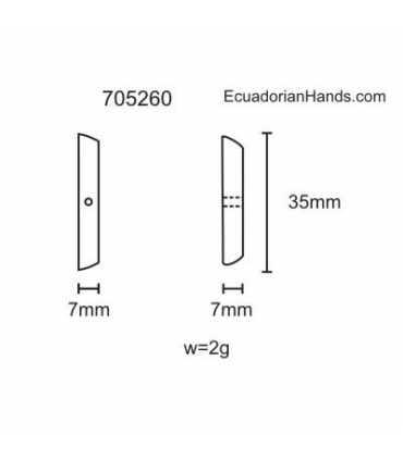 Splinter w/hole middle Tagua Bead (40 units) YELLOW