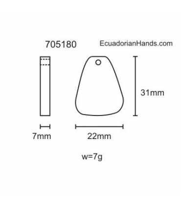 Rectangular Hanging Tagua Bead (720 units) PREMIUM
