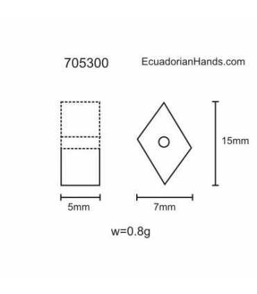 Tagua Bead Bit (70 units) YELLOW