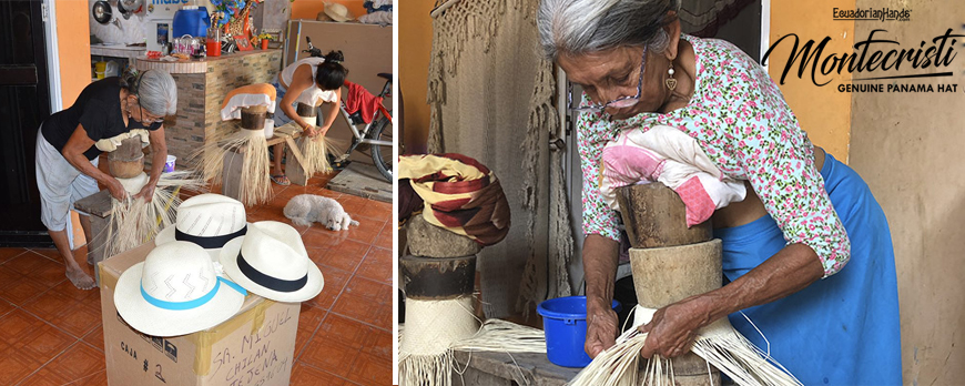 New straw hat weavers are formed in Portoviejo