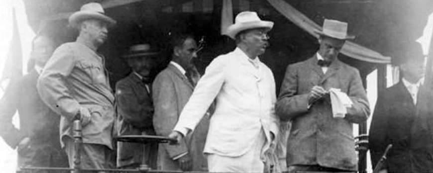 Roosevelt, one of the best United States presidents, wore proudly panama hats